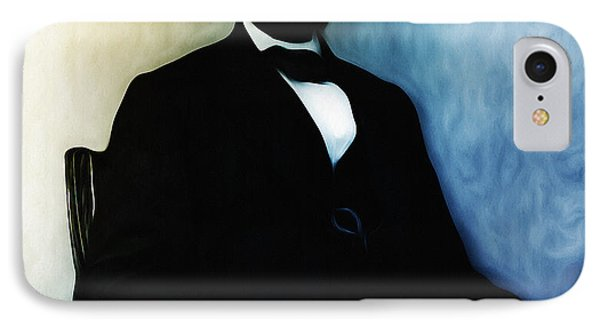 Abe Lincoln Seated Phone Case by Bill Cannon