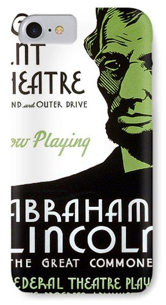 Abe Lincoln Wpa Poster Phone Case by Paul Van Scott