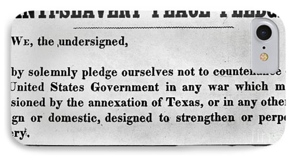 Abolitionist Peace Pledge Phone Case by Granger