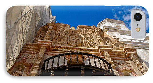 Above The Front Entry San Xavier Mission Phone Case by Jon Berghoff