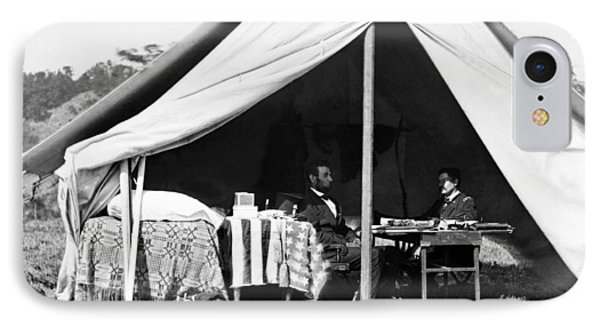 IPhone Case featuring the photograph Abraham Lincoln Meeting With General Mcclellan - Antietam - October 3 1862 by International  Images