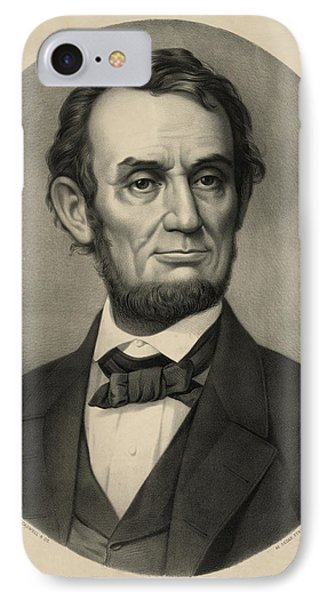 IPhone Case featuring the photograph Abraham Lincoln Portrait by International  Images