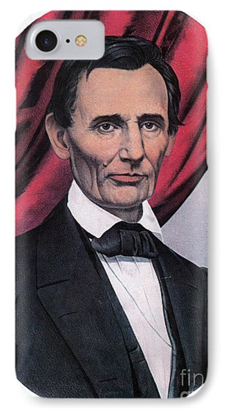 Abraham Lincoln, Republican Candidate Phone Case by Photo Researchers