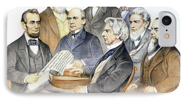 Abraham Lincolns Cabinet Phone Case by Granger