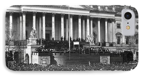 IPhone Case featuring the photograph Abraham Lincolns First Inauguration - March 4 1861 by International  Images