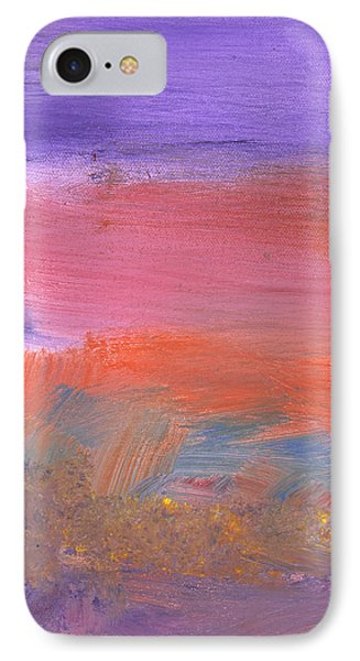 Abstract - Guash - Lovely Meadows 2 Of 2 Phone Case by Mike Savad