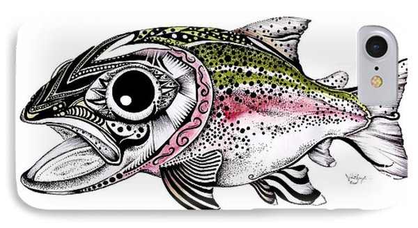 Abstract Alaskan Rainbow Trout Phone Case by J Vincent Scarpace