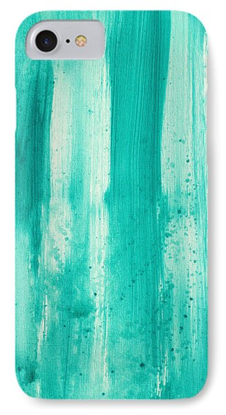 Abstract Art Original Decorative Painting Aqua Passion By Madart Phone Case by Megan Duncanson