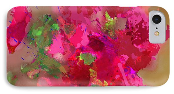 IPhone Case featuring the painting Abstract Bougainvillea Painting Floral Wall Art by Judy Filarecki