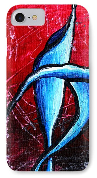 Abstract Calla Lilly Textured Painting Greeting Lillies By Madart Phone Case by Megan Duncanson