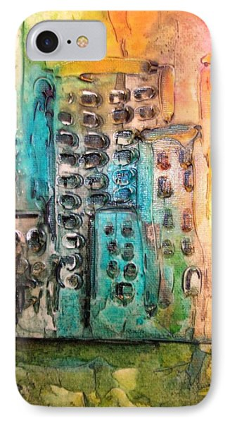 Abstract Cityscape IPhone Case by Mary Kay Holladay
