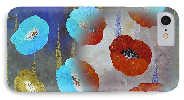 Abstract Colorful Poppies Phone Case by Georgeta  Blanaru