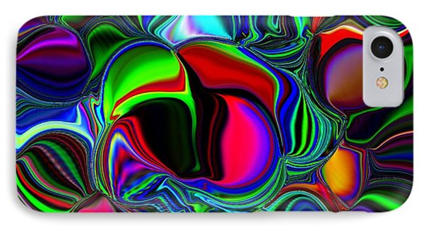IPhone Case featuring the digital art Abstract Colors 1 by Greg Moores