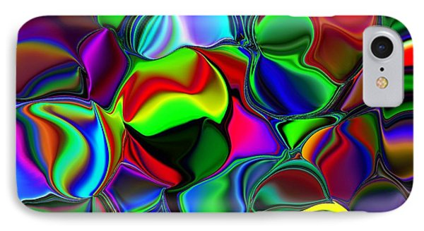 IPhone Case featuring the digital art Abstract Colors 2 by Greg Moores