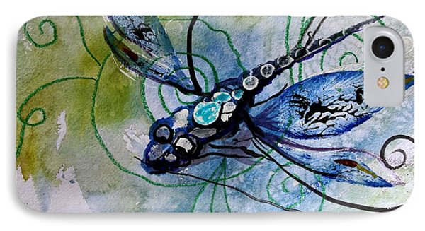 Abstract Dragonfly 10 Phone Case by J Vincent Scarpace