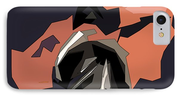Abstract He Comes For Me Phone Case by David Dehner