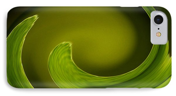 Abstract Helecho  IPhone Case by Melanie Moraga