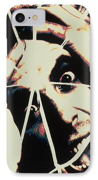 Abstract Image Of Man With Shattered Personality IPhone Case
