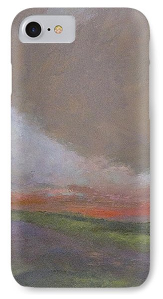 Abstract Landscape - Scarlet Light IPhone Case by Kathleen Grace