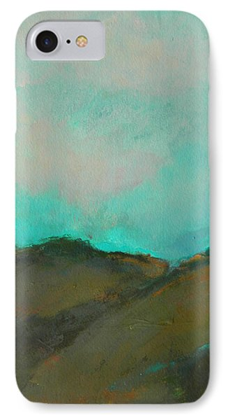 Abstract Landscape - Turquoise Sky IPhone Case by Kathleen Grace