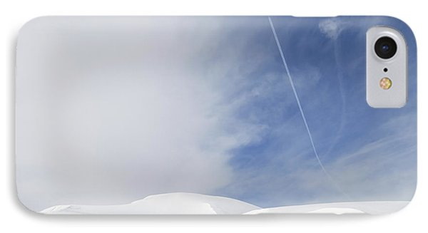 Abstract Minimalist Winter Landscape - Snow And Blue Sky Phone Case by Matthias Hauser