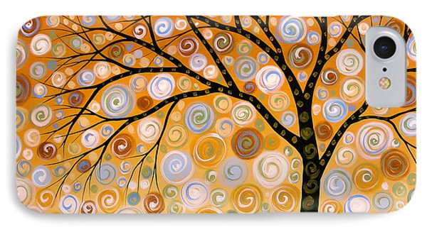Abstract Modern Tree Landscape Dreams Of Gold By Amy Giacomelli IPhone Case by Amy Giacomelli
