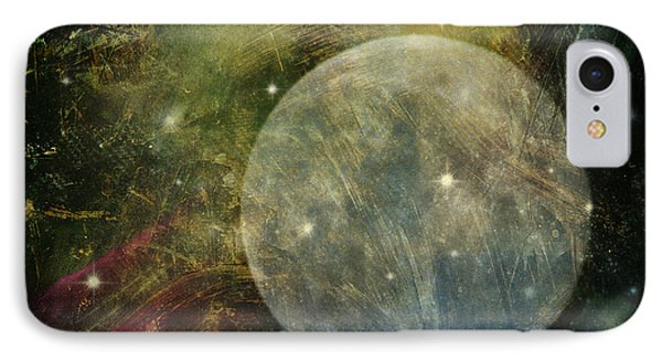 Abstract Moon IPhone Case by Billie-Jo Miller