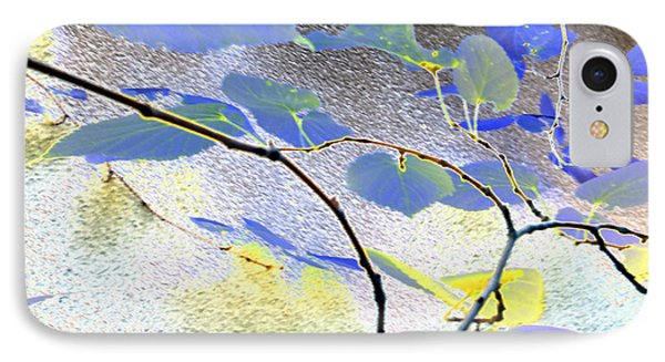 Abstract Of Blue Leaves IPhone Case