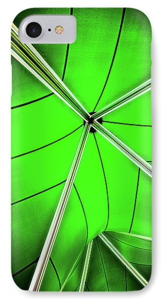 Abstract Of Green Phone Case by Meirion Matthias