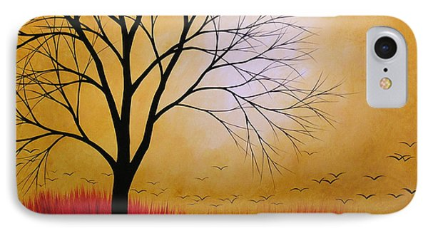 Abstract Original Tree Painting Summers Anticipation By Amy Giacomelli IPhone Case by Amy Giacomelli
