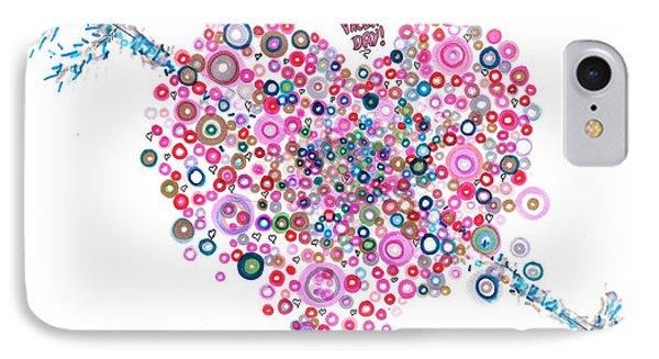 Abstract Pattern Valentine Phone Case by Regina Valluzzi