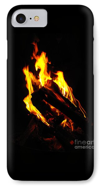 Abstract Phoenix Fire IPhone Case by Rebecca Margraf