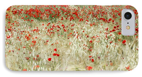Abstract Poppies Phone Case by Guido Montanes Castillo