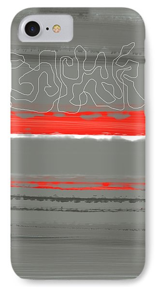 Abstract Red 3 IPhone Case by Naxart Studio