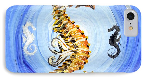 Abstract Sea Horse Phone Case by J Vincent Scarpace