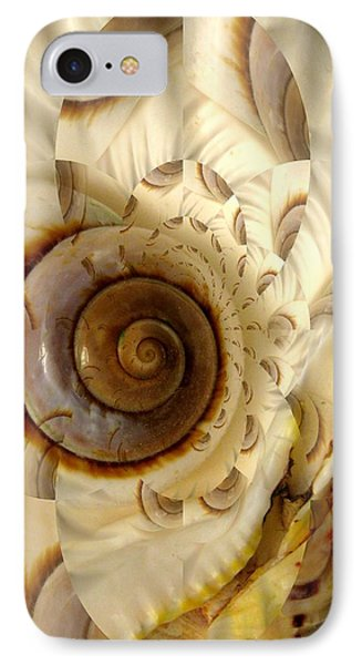 Abstract Seashell Phone Case by Shirley Sirois