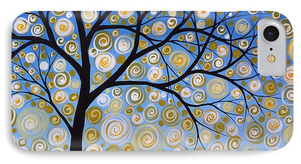 Abstract Tree Nature Original Painting Starry Starry By Amy Giacomelli IPhone Case by Amy Giacomelli