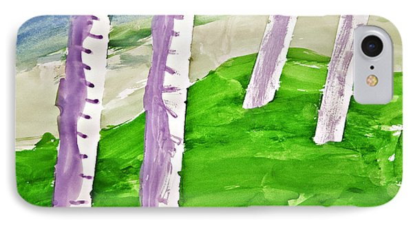 Abstract Trees Phone Case by Susan Leggett