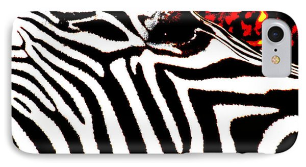 Abstract Zebra 001 Phone Case by Lon Casler Bixby