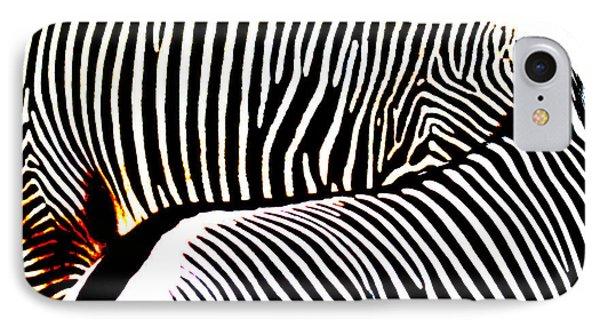 Abstract Zebra 002 Phone Case by Lon Casler Bixby