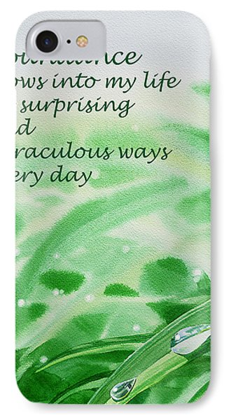 Abundance Affirmation IPhone Case by Irina Sztukowski