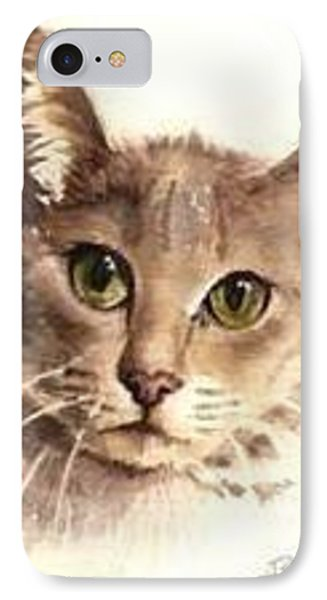 IPhone Case featuring the painting Abyssinian Cat by Sandra Phryce-Jones