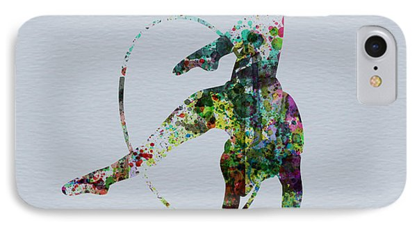 Acrobatic Dancer IPhone Case by Naxart Studio
