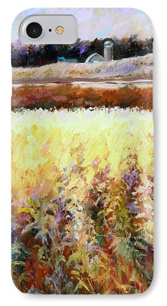 Across The Cornfield IPhone Case by Bonnie Goedecke
