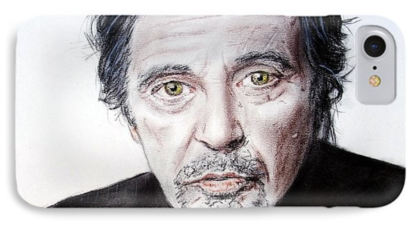 Actor And Director Al Pacino  IPhone Case by Jim Fitzpatrick