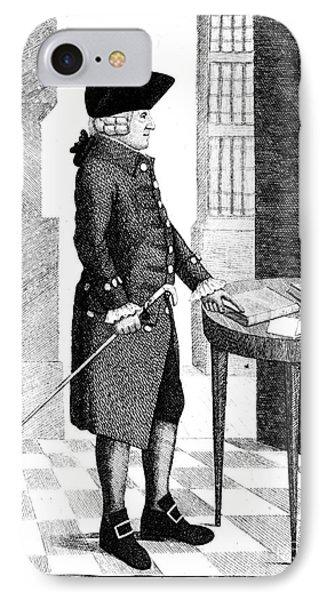 Adam Smith, Scottish Philosopher & Phone Case by Photo Researchers
