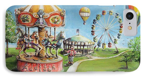 IPhone Case featuring the painting Carnival by Bernadette Krupa
