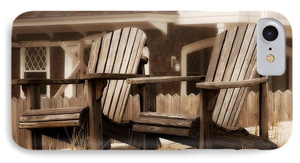 Adirondack Chairs On The Beach - Jersey Shore IPhone Case by Angie Tirado