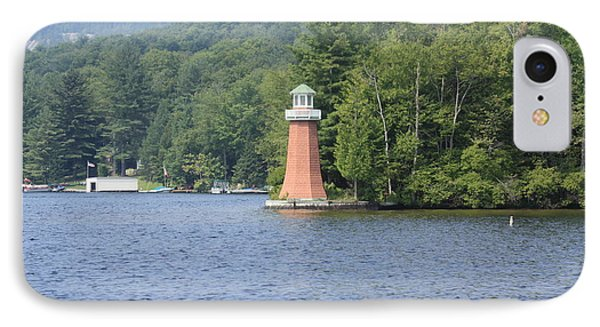 IPhone Case featuring the photograph Adirondack Lighthouse by Ann Murphy