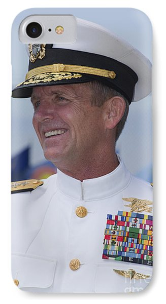 Admiral Eric T. Olson Speaks Phone Case by Michael Wood